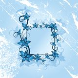 Winter floral frame Stock Photography