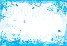 Winter floral frame, vector Royalty Free Stock Images