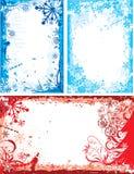 Winter floral frame, vector Royalty Free Stock Photos