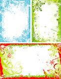 Winter floral frame, vector Stock Photos