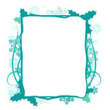 Winter floral frame, vector Royalty Free Stock Image