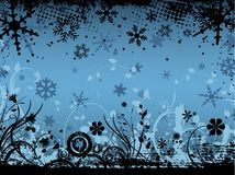 Winter floral grunge Stock Photography