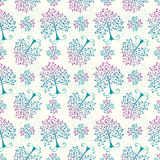 Winter floral pattern Stock Image