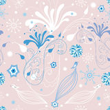 Winter floral pattern Royalty Free Stock Images