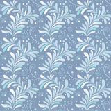 Winter floral seamless ornament. Blue and white winter floral seamless ornament Royalty Free Stock Image