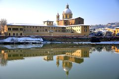 Winter time in Florence city , Italy Stock Image