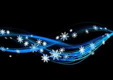 Winter flow. Background illustration of snowflakes winter flow in black vector illustration