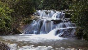 Winter flow at Hashofet Waterfall. North of israel Hashofer stream long exposure water falling stock image