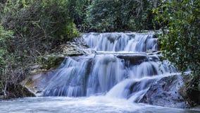 Winter flow at Hashofet Waterfall. North of israel Hashofer stream long exposure water falling royalty free stock images
