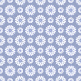 Winter flower seamless background Stock Photo