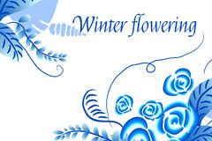 Winter flowering Abstract vector floral background Royalty Free Stock Photos