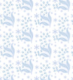 Winter flowers seamless Royalty Free Stock Images