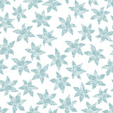 Winter flowers seamless pattern. Stock Images