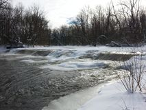 Winter flowing. Royalty Free Stock Photography