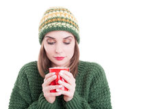 Winter flu or cold concept Royalty Free Stock Images