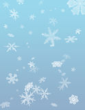 Winter Flurry. Falling Snow Flakes Vector Illustration