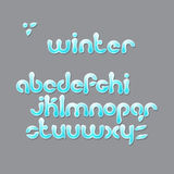 Winter font Stock Photography
