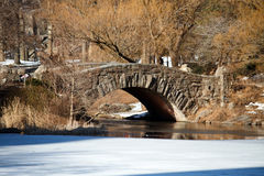 Winter Foot Bridge Royalty Free Stock Photo