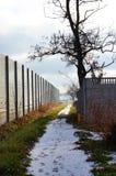 Winter footpath Stock Image