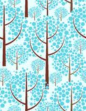 Winter forest. Seamless background. Vector illustration Royalty Free Stock Photography