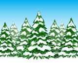 Winter forest card Royalty Free Stock Photo