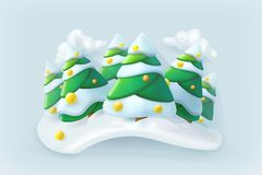 Winter forest. Christmas vector Royalty Free Stock Photo