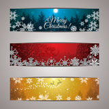 Winter forest colorful background Royalty Free Stock Images