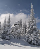 Winter at a forest fire lookout Stock Images