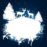 Winter forest grunge paint design Royalty Free Stock Photography