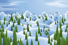 Winter Forest Hills Royalty Free Stock Photos