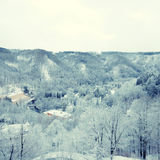 Winter on forest hills (Chezh Republic). Stock Photo