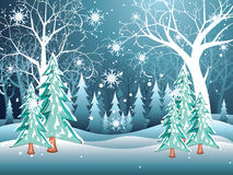 Free Winter Forest Landscape Royalty Free Stock Photos - 79808038