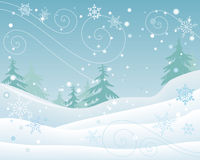 Winter Forest Landscape Flat Design Vector vector illustration