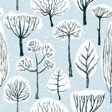 Winter forest. Landscape seamless pattern Royalty Free Stock Photography