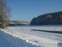 Winter landscape, Krasnoyarsk region, Russia. stock image