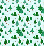 Winter forest pattern. Winter forest snow seamless pattern Royalty Free Stock Photography
