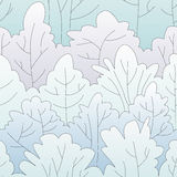 Winter forest pattern. Winter forest. Trees covered by snow. Seamless pattern Royalty Free Stock Photos