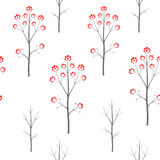 Winter forest seamles vector pattern. Winter rowan forest seamles vector pattern Royalty Free Stock Photos