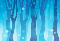 Winter forest theme image 1 Stock Image