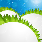 Winter forest. Vector bstract background Royalty Free Stock Image