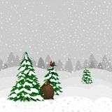 Winter forest in  vector Stock Images