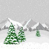 Winter forest in  vector Royalty Free Stock Photo