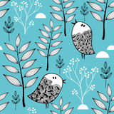 Winter in the forest vector illustration. Stock Image