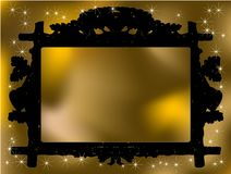 Winter frame. Photo frame with christmas background Royalty Free Stock Photography