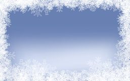 Winter Frame. Light-Blue Winter Frame With Different Snowflakes Royalty Free Stock Image