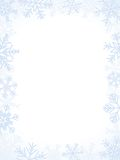 Winter Frame. Light-Blue Winter Frame With Different Snowflakes Stock Image