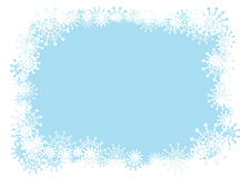 Winter frame. Vector winter frame for your season's design Stock Photo