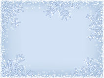 Winter Frame. Light-Blue Winter Frame With Defferent Snowflakes Royalty Free Stock Photo