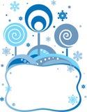 Winter frame royalty free illustration