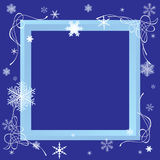 Winter frame. Royalty Free Stock Photos